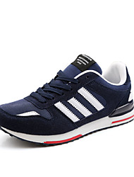Men's Sneakers Summer Tulle Lace-up Black Blue Gray