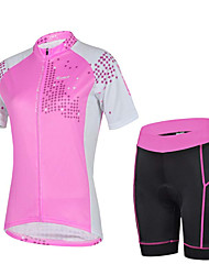Sports Cycling Jersey with Shorts Women's Short Sleeve Bike Breathable / Sweat-wicking Jersey + Shorts / Tops / Bottoms ElastaneSpring /