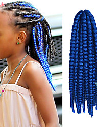 "Sapphire 12"" Kid's Kanekalon Synthetic 2X Havana Mambo Twist 100g Hair Braids with Free Crochet Hook"