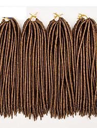 Rastas la Habana Croché Faux Dreads Crochet faux dreads Extensiones de Dreadlock Kanekalon Rubio fresa castaño medio Morado Borgoña Azul