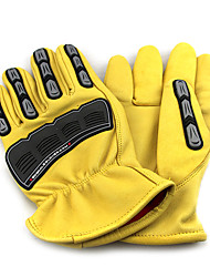 OZERO® Sheepskin Workers Wear Protective Gloves Crash Site
