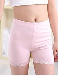 Mädchen Shorts-Lässig/Alltäglich einfarbig Baumwolle Ganzjährig Schwarz / Rosa / Weiß