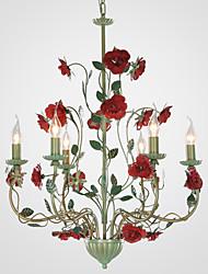 European Garden Lamp Chandelier Lamp American Iron Flower Flowers