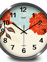 Elegant Garden Flowers Quartz Wall Clock