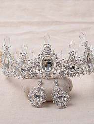 Women's Rhinestone / Alloy Headpiece-Wedding / Special Occasion Tiaras 2 Pieces Clear Irregular
