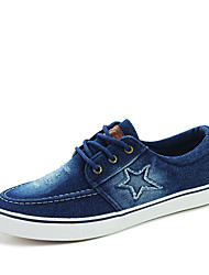Men's Sneakers Spring Fall Fabric Athletic Flat Heel Lace-up Others Blue Navy