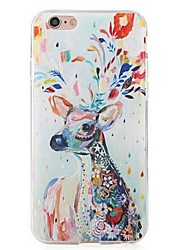 Back Deer  TPU Soft Shockproof Case Cover For Apple iPhone 6s Plus/6 Plus / iPhone 6s/6
