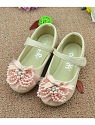 Girl's Flats Spring Summer Fall Comfort PU Dress Casual White