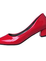Women's Shoes PU Summer Heels Heels Casual Low Heel Others Black / Red / White