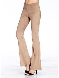 solides pantalons bootcut brun des femmes heartsoul, simple