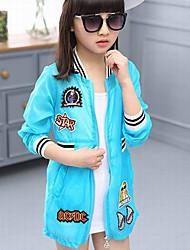 Casual/Dagelijks-Effen-Polyester-Zomer-Girl's-Kostuum & Blazer-Blauw / Roze