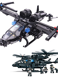 Building Blocks For Gift  Building Blocks Model & Building Toy Aircraft / Fighter Plastic Above 6 Blue Toys