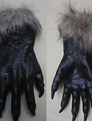 Halloween Horror Devil Gloves Party Prop Wolf Gloves Werewolf Wolf Paws Claws Cosplay Gloves Creepy Costume Theater Toys