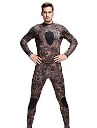 SBART Homme Combinaisons Tenue de plongée Compression Costumes humides 1.5 à 1.9 mm Olive S / M / L / XL / XXL Plongée