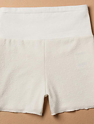 Maternity Simple Shorts Pants,Cotton / Polyester Stretchy