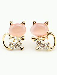 Earring Animal Shape Jewelry Women Fashion Wedding / Party / Daily / Casual / Sports Alloy / Rhinestone / Opal 1 pair Gold