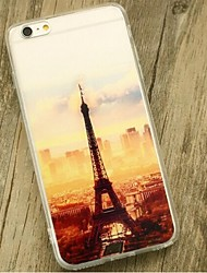indietro Resistente agli urti Torre Eiffel TPU Morbido Shockproof Copertura di caso per Apple iPhone 6s Plus/6 Plus / iPhone 6s/6
