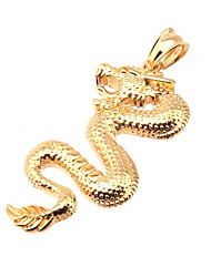 316L Stainless Steel Pendant China Golden Dragon