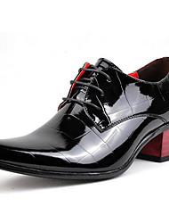 Herren-Outdoor-Outddor Büro Lässig Party & Festivität-Lacklederformale Schuhe-Schwarz