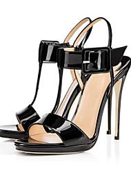 Zapatos de mujer-Tacón Stiletto-Tacones-Sandalias-Boda / Oficina y Trabajo / Fiesta y Noche-Semicuero-Negro