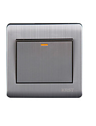 Model 86 Brushed Stainless Steel High-End Home a Double Control Wall Switch