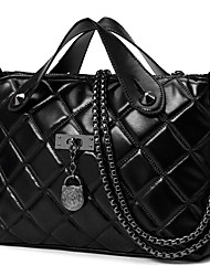 Women PU Formal / Casual / Office & Career / Shopping Tote Black