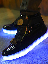 LED Light Up Shoes,Women's Fashion luminous shoes USB charging Best Seller Casual Shoes Black / White / Red