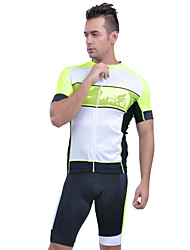 Sportif® Maillot et Cuissard de Cyclisme Homme Manches courtes Respirable / Anti-transpiration VéloMaillot + Short/Maillot+Cuissard /