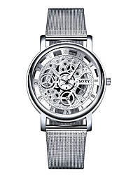SOXY® Men's Watch Hollow Quartz Steel  Fashion Watch Men's Casual Wristwatches