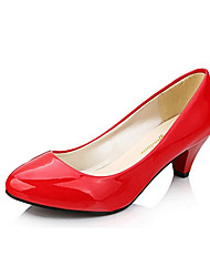 Women's Shoes Patent Leather Summer Heels Heels Casual Low Heel Others Black / Red