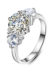 Three Stone Style 1CT Main Stone 0.5ct*2 Side Stones Engagement Ring SONA Diamond Ring for Women Sterling Silver No Fade