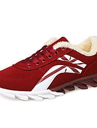 женская обувь замша зимние кроссовки комфорт моды случайные плоский каблук другие черный / синий / красный