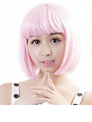 "Neitsi 100% Kanekalon Fiber 14""(35cm) 160g/pc Women's Girl's Cosplay Short Synthetic BOB Hair Wig Light Pink"
