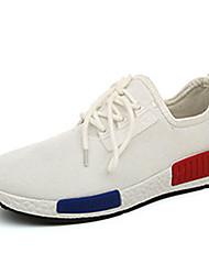 Herren-Flache Schuhe-Sportlich-Stoff-Flacher AbsatzSchwarz Blau Weiß Grau