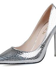 Damen-High Heels-Party & Festivität-PU-StöckelabsatzSilber Grau Gold