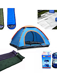 2 persons Inflated Mat Tent Sleeping Bag Double One Room Camping Tent 1000-1500 mmMoistureproof/Moisture Permeability Breathability