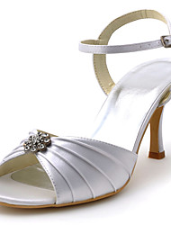 Women's Shoes Silk Stiletto Heel Heels / Peep Toe Heels Wedding / Party & Evening / Dress Pink / Purple / Red /