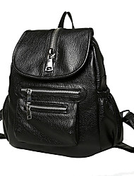 Women PU Sports / Casual / Outdoor / Shopping Backpack Black