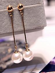 Earring Geometric Drop Earrings Jewelry Women Fashion Wedding / Party / Daily Alloy 1 pair Gold