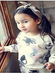 Girl's Casual/Daily Floral Dress / Hoodie & Sweatshirt / Leggings,Cotton Fall Pink / Beige