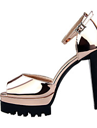 Women's Sandals Patent Leather Casual Chunky Heel Others Black / Silver / Gold / Champagne Others