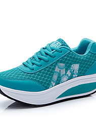 Women's Sneakers Flats Spring Fall Tulle Outdoor Dress Casual Flat Heel Others Blue Gray Fuchsia Fitness & Cross Training