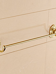 Gold-plated Brass Bathroom Towel Rack