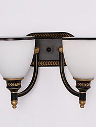 AC 100-240 2*60w E26/E27 Rustique/Campagnard Peintures Fonctionnalité for Style mini,Eclairage d'ambiance Chandeliers murauxApplique