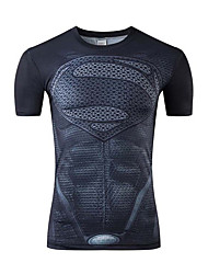 Sports Cycling Jersey Men's Short Sleeve Bike Breathable Tops Terylene Spring / Summer Cycling/Bike