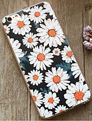 indietro Resistente agli urti Fiore decorativo TPU Morbido Shockproof Copertura di caso per Apple iPhone 6s Plus/6 Plus / iPhone 6s/6