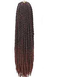 #30 torção cúbico Tranças torção Extensões de cabelo 22 inch Kanikalon 12 costa 115-125g/pack grama Tranças de cabelo