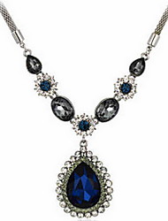 Exquisite Crystal Drop Pendant Necklace Jewelry for Lady