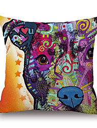 Cotton/Linen Pillow Case,Novelty / Textured / Wildlife / Animal Print / Graphic Prints Modern/Contemporary / Casual