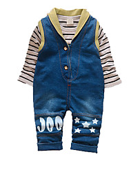 Baby Casual/Daily Print Clothing Set,Cotton Fall-Blue